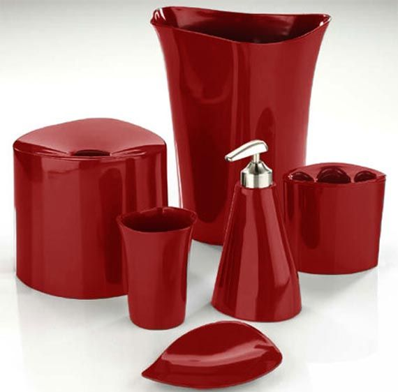 red bathroom accessories sets uk YSUHPSD