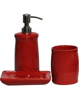 red bathroom accessories souvnear 190803029022 set of 3 bathroom accessories in red color PFWKBJR