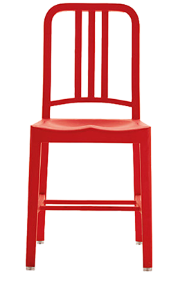 red chair sitting to take a stand PHBNRDV