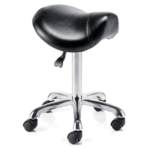 rem saddle stool without back black CORUJNM
