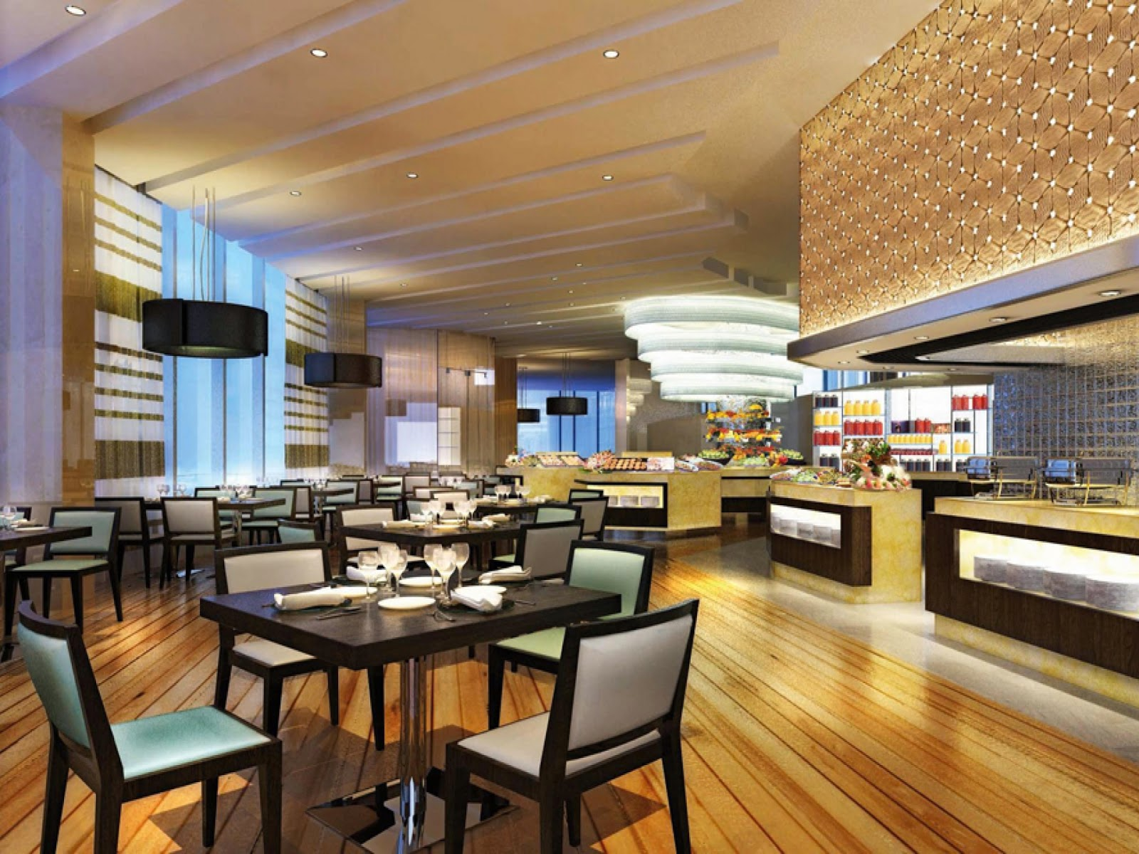 restaurant interior design GEGQXUI