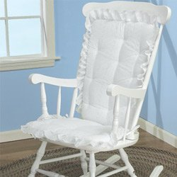 rocking chair cushions babydoll bedding eyelet rocking chair cushion set, white (cushion only) VOUJCAQ