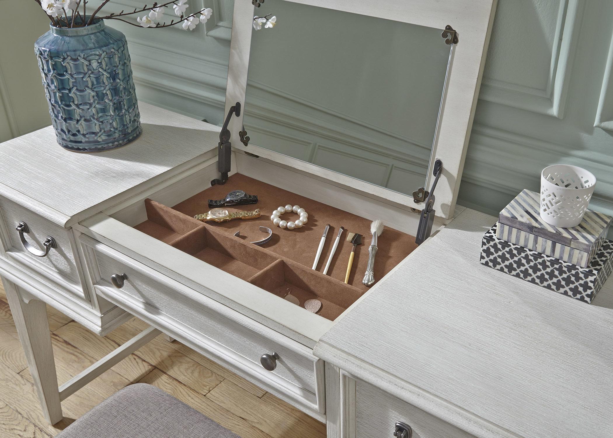 rosecliff heights trenton vanity desk with mirror u0026 reviews | wayfair YKJISMY