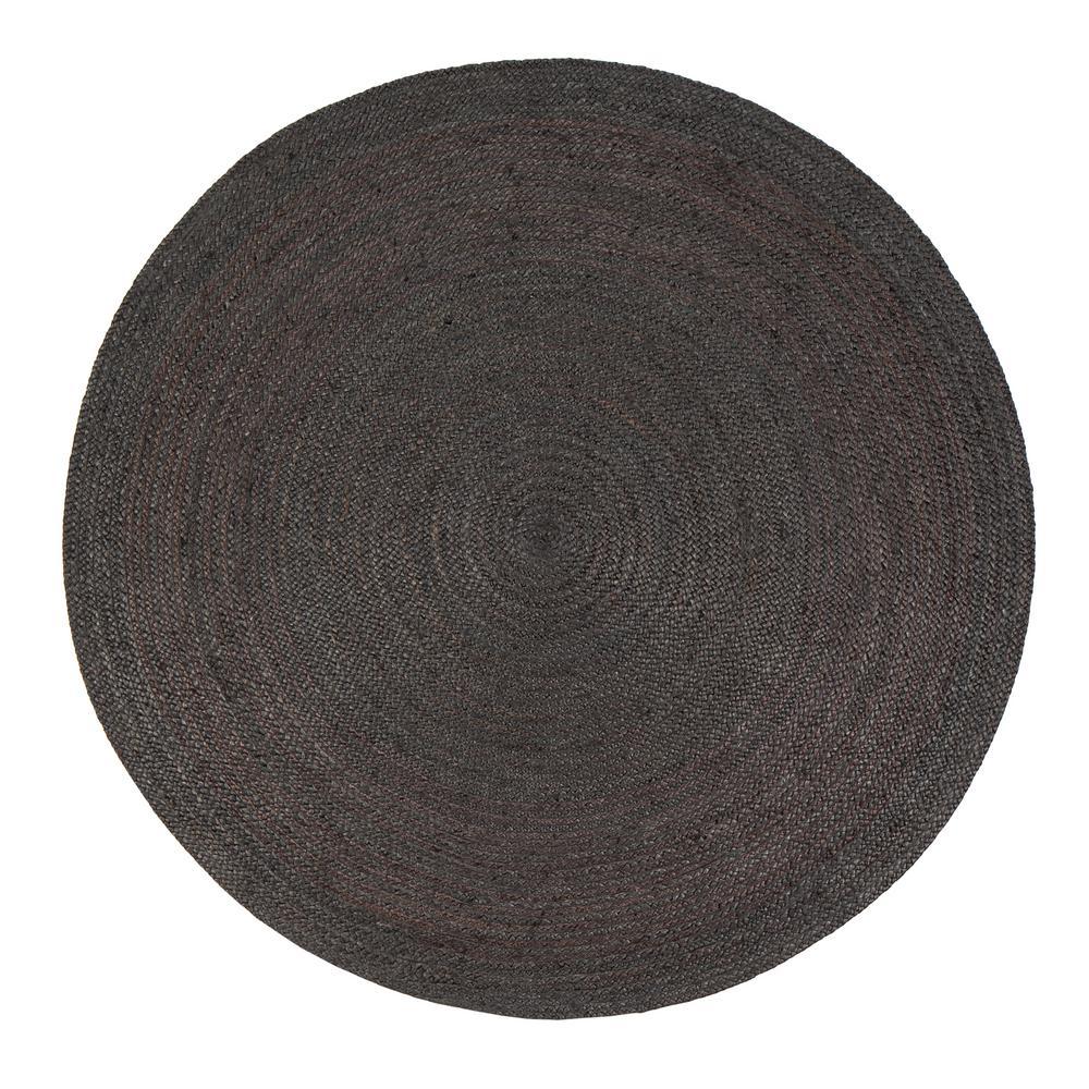 round area rugs anji mountain kerala gray 6 ft. x 6 ft. jute round GVOYFAP
