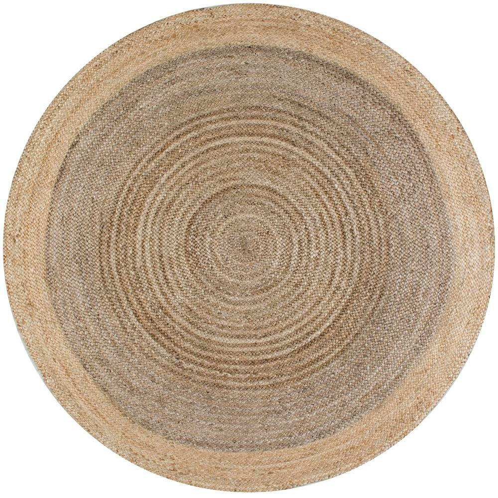 round area rugs nuloom eleonora grey 8 ft. x 8 ft. round area rug VCCUZOQ