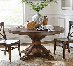 round dining table benchwright pedestal dining table ... IDBCAQI