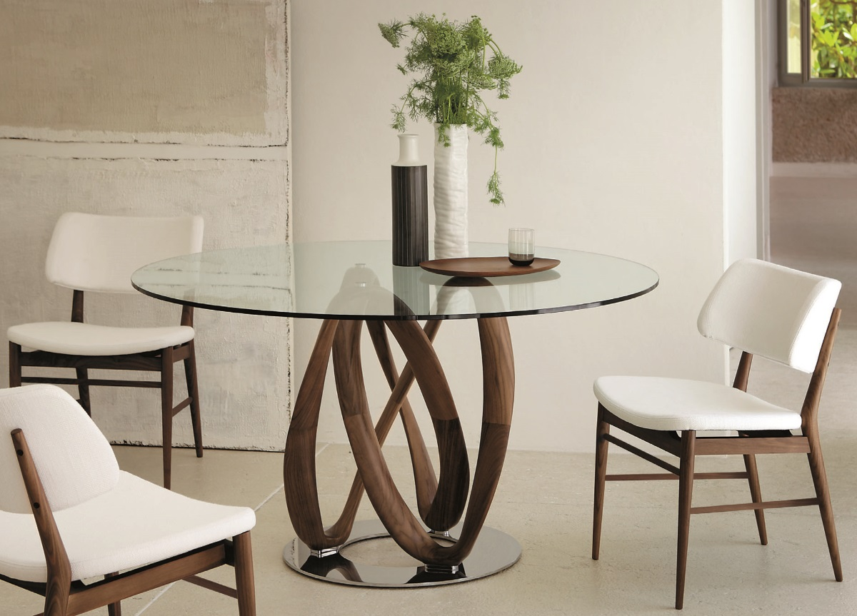 round dining table ... dining tables, enchanting modern round dining tables modern glass dining MBVEBBQ
