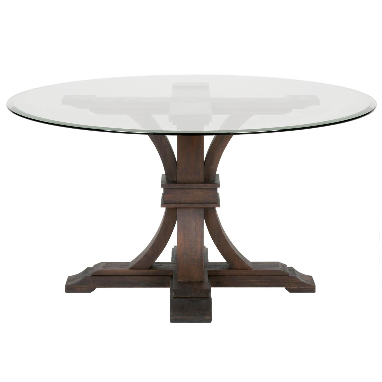 round glass dining table devon 54 YKIWENT