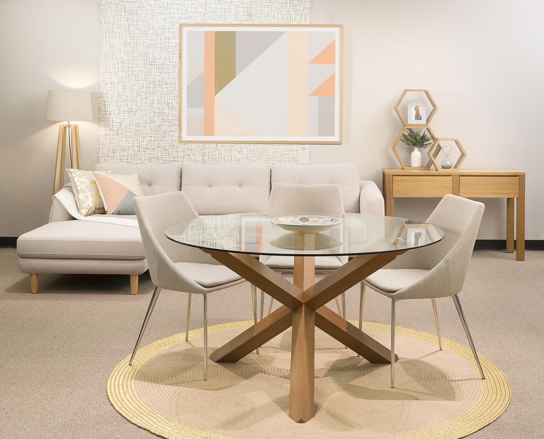 round glass dining table ZNQIDBW