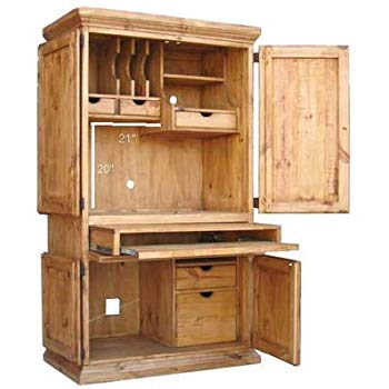 rr rustic western wall computer armoire WOBNOCF