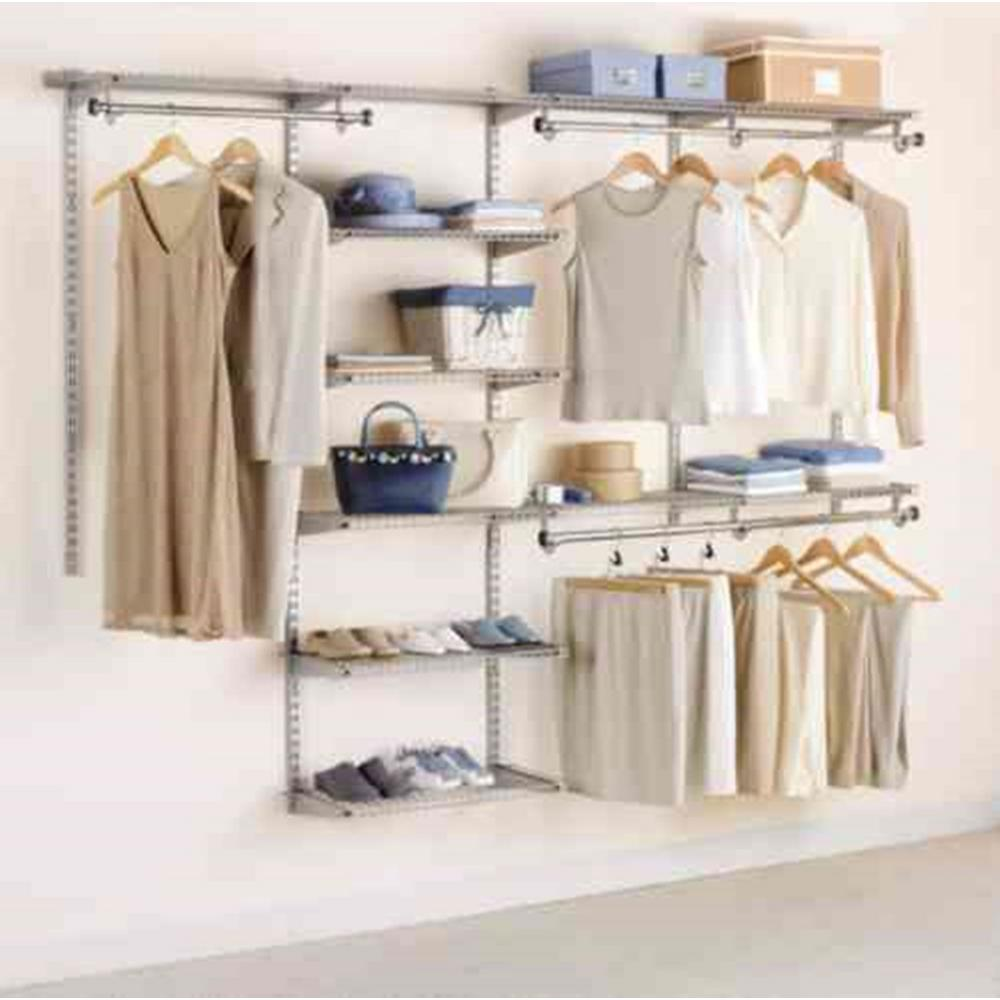 rubbermaid closet rubbermaid configurations 4 ft. d x 8 ft. w titanium metal DGORBDO