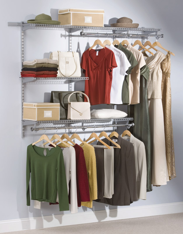 rubbermaid closet the telescoping rods and expanding shelves make reconfiguring your closet HYFQSGW