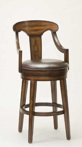 rustic bar stools hillsdale furniture upton 45.5-inch swivel bar stool, rustic oak finish UZCVXBN