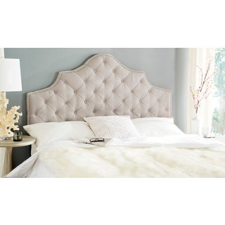 safavieh arebelle taupe tufted headboard (king) REVBNJX