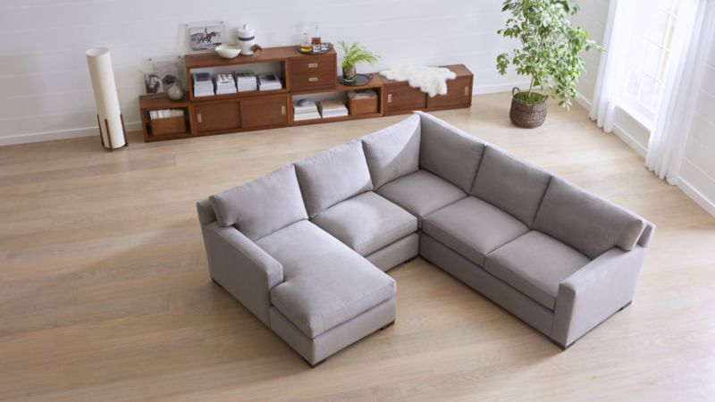 sectional sofa sectional sofas: leather and fabric | crate and barrel PCMIZDO