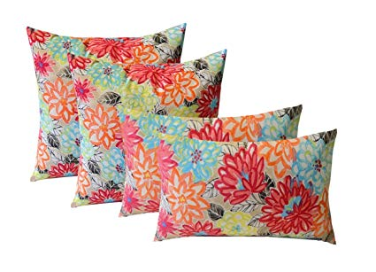 set of 4 indoor / outdoor pillows - 17 square throw ONTFIRY