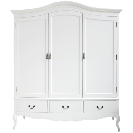 shabby chic wardrobe juliette shabby chic white bed / single (3ft), double (4ft6) or TVBRUHJ