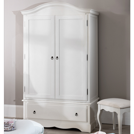shabby chic wardrobe romance shabby chic white double wardrobe / 1 drawer 2 door MSYWKIA