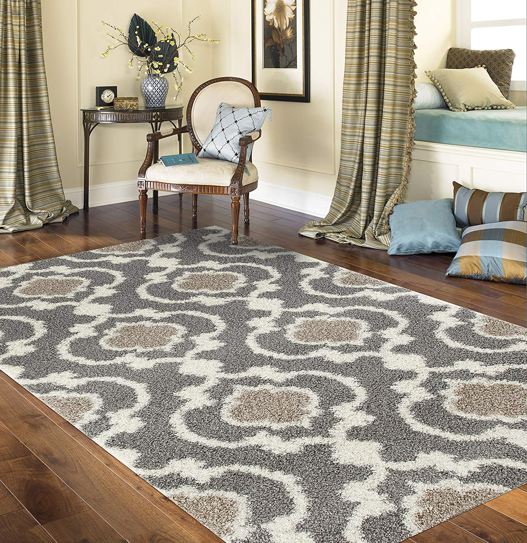shag area rugs amazon.com: rugshop cozy moroccan trellis indoor shag area rug, 5u00273 JGEATKK