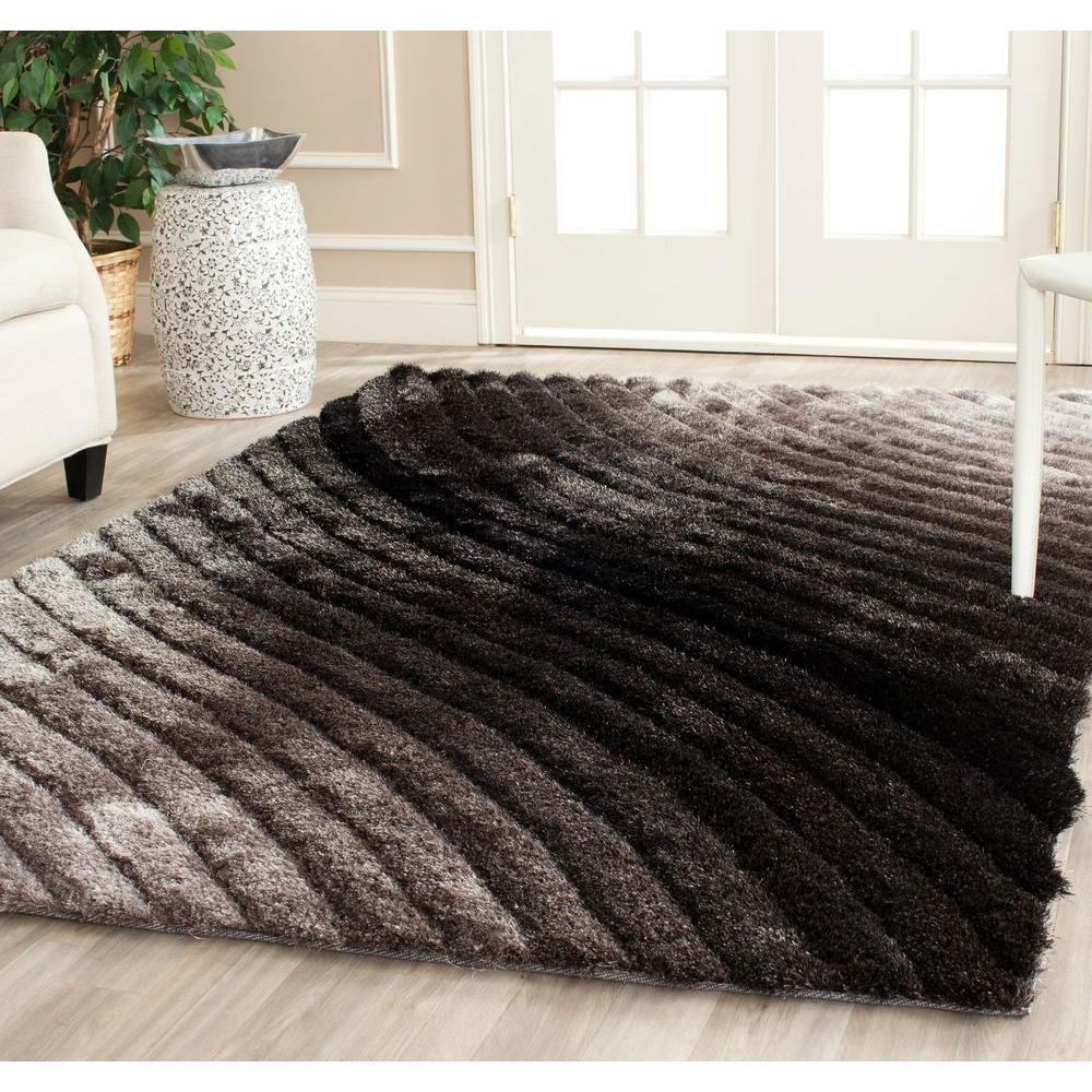 shag area rugs safavieh 3d shag silver 6 ft. x 9 ft. area rug YPTKDVD
