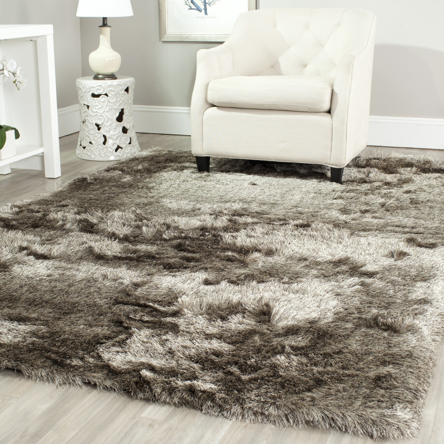 shag area rugs safavieh-hand-tufted-silken-sable-shag-area-rugs- VGHMSUW