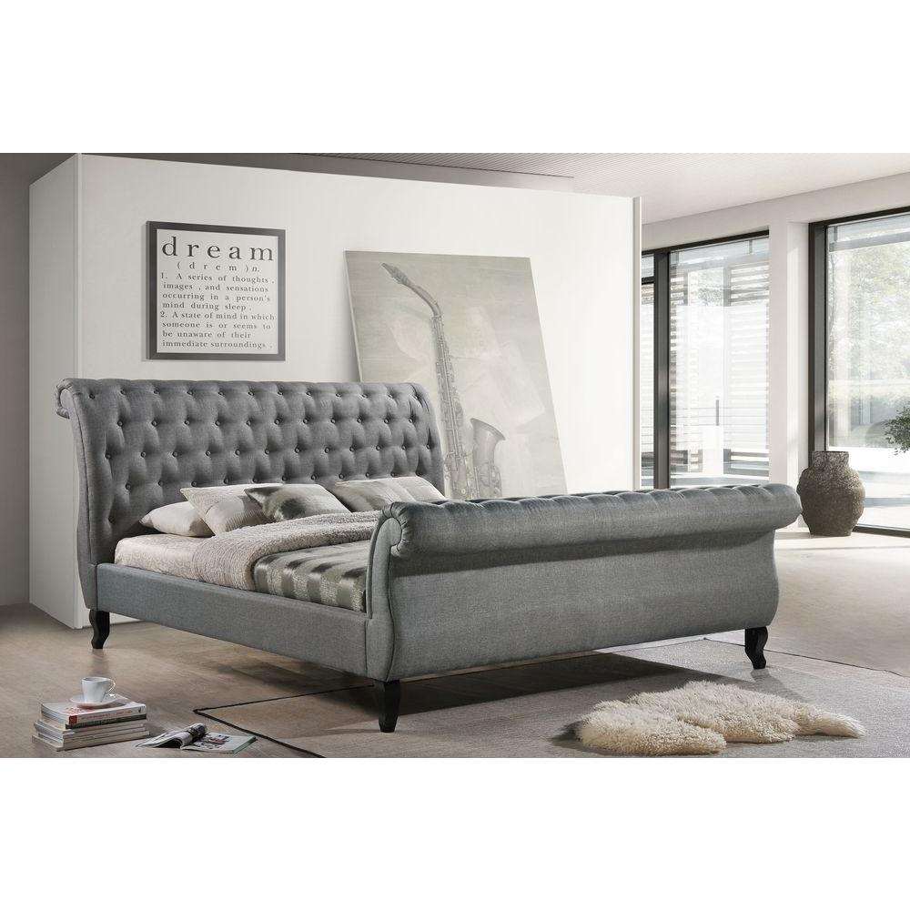 sleigh beds luxeo nottingham gray king sleigh bed TNTUMYW