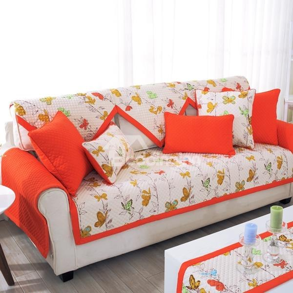 slip-proof square/rectangle polyester and cotton floral print sofa covers  ... DPXZOFH