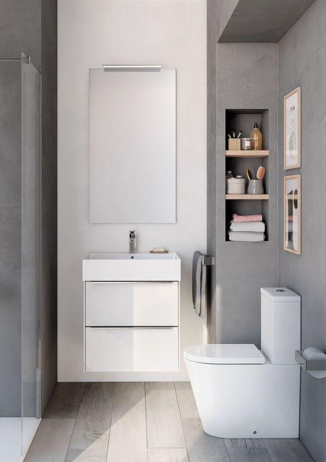 small bathrooms designs inspira wall-hung white gloss base unit, inspira square wall-hung basin, PHKUXNQ