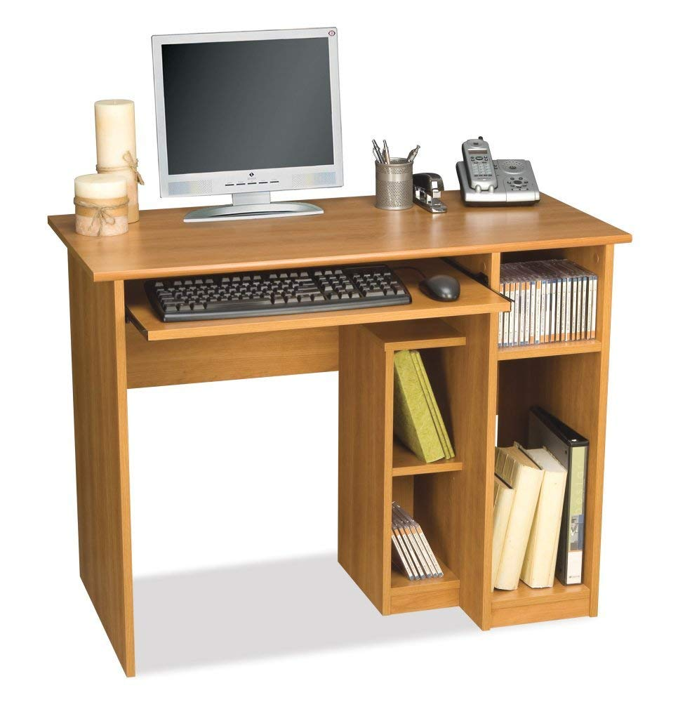 small computer desk amazon.com: computer workstation w desk u0026 open cubbies - basic: kitchen EUIKJVQ