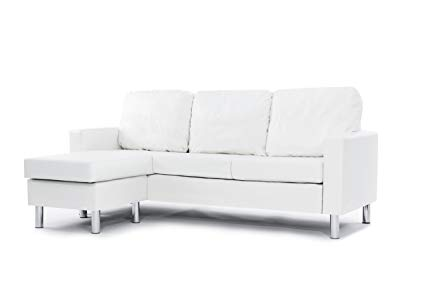 small couch modern bonded leather sectional sofa - small space configurable couch - AHAIBBF