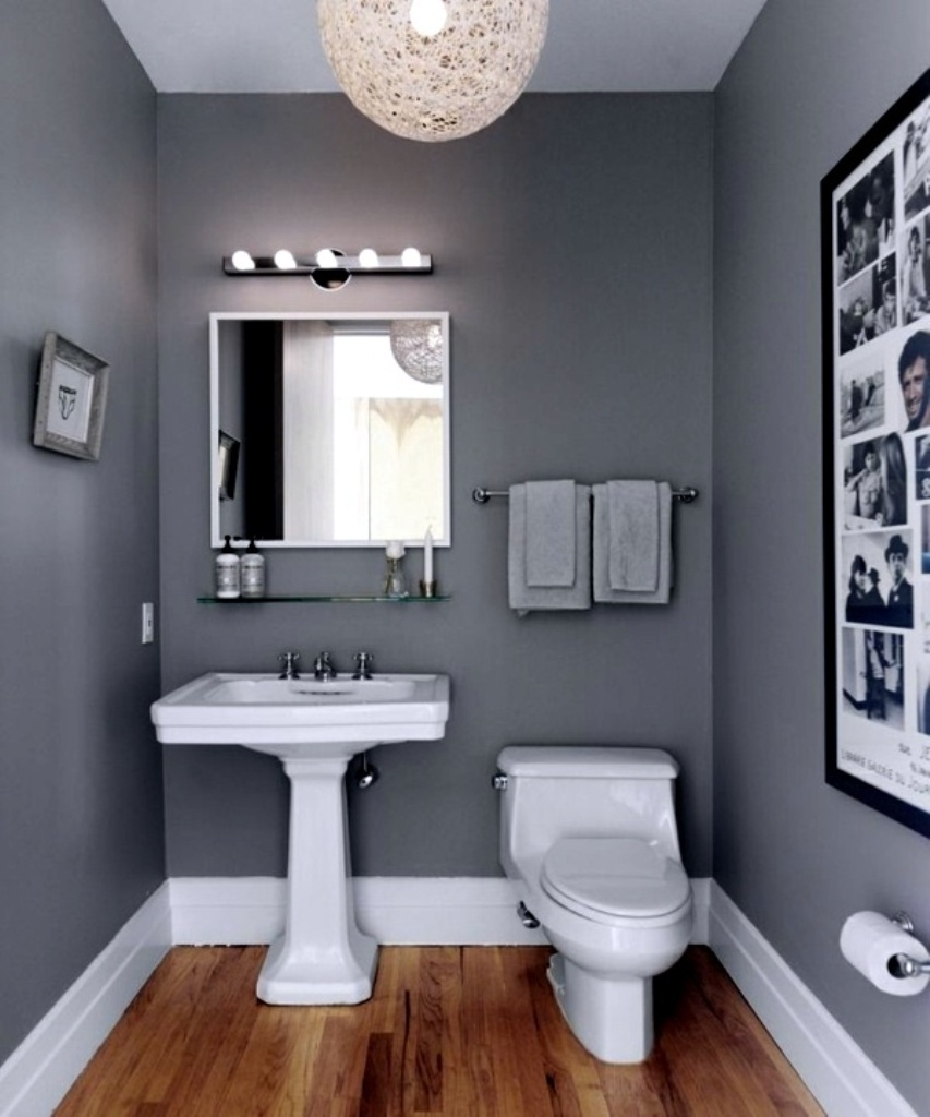 small interior design with dark grey bathroom paint ideas with white CBTIXOH