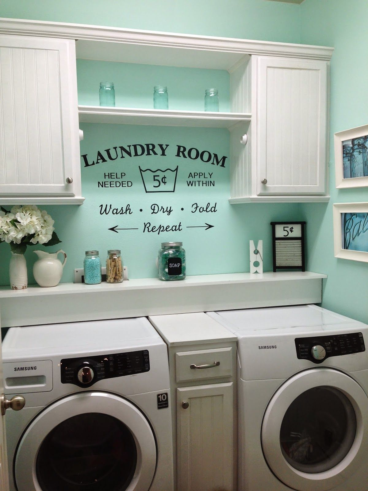 small laundry room ideas rustic shabby chic laundry room, vintage vinyl decal small laundry room EFLVGVI