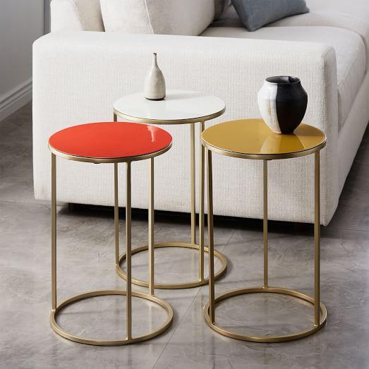 small side table enamel side table - small UCGDFIZ