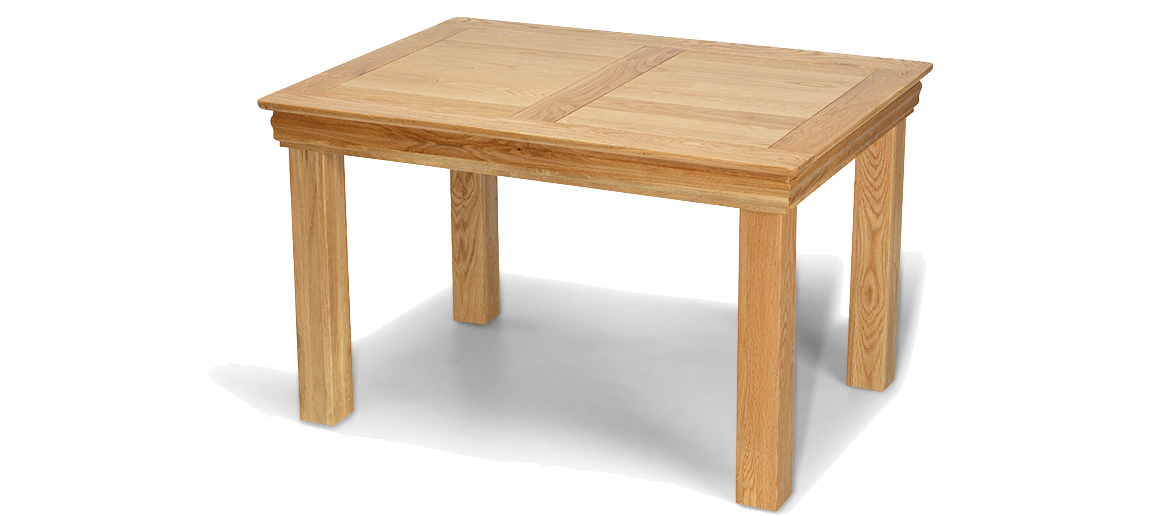 small table constance oak 125 cm dining table ideal for smaller ... AUJFRWM