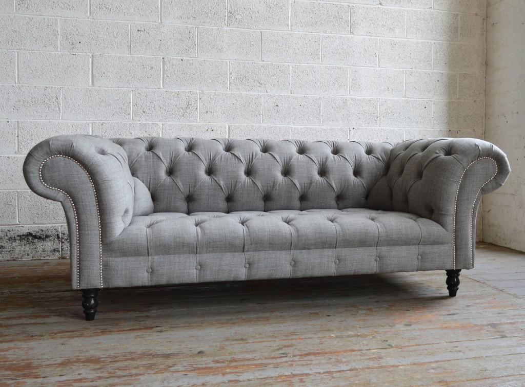 sofa chesterfield handmade grey romford wool chesterfield sofa OENIKUU