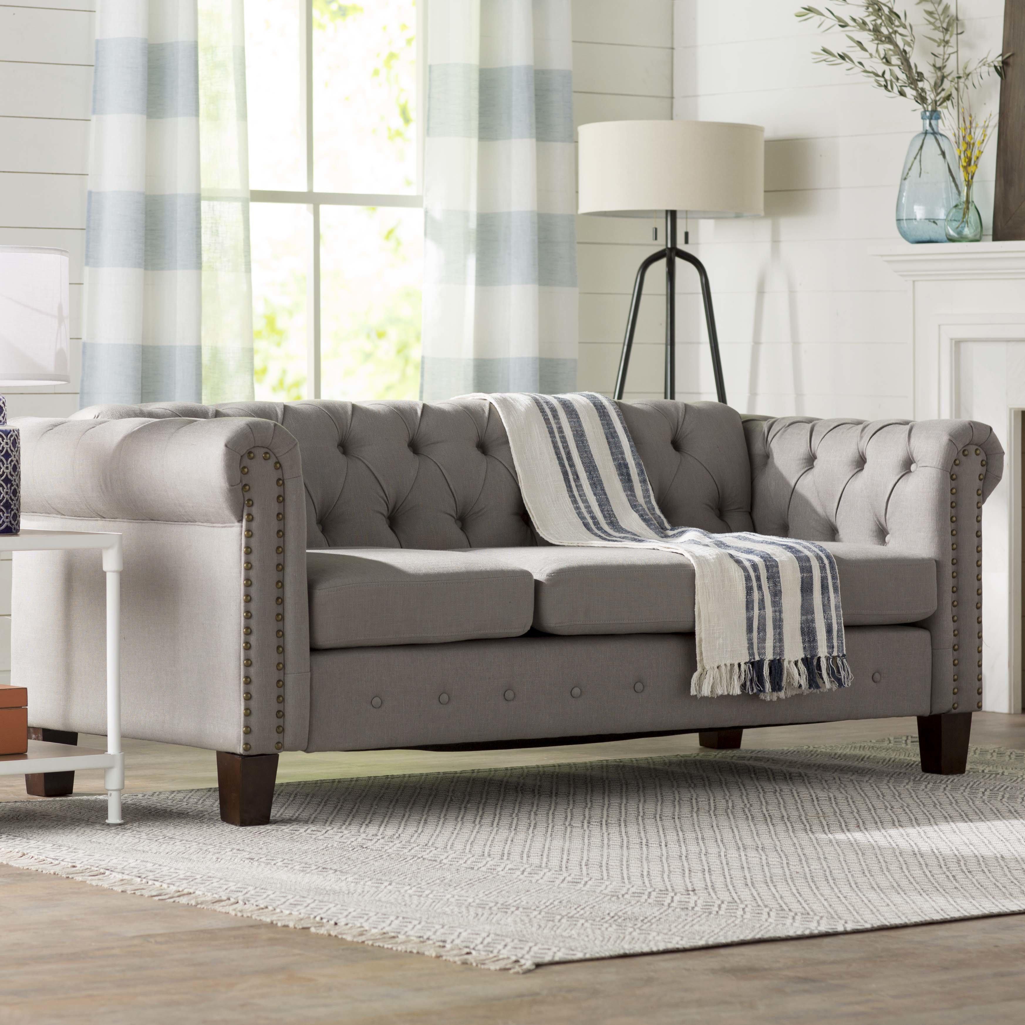 sofa chesterfield three posts trevino chesterfield sofa u0026 reviews | wayfair SRJGYJS