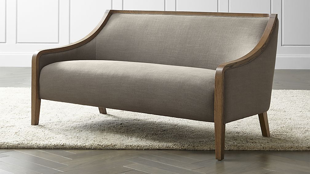 sofa settee bryn settee | crate and barrel HETDOWI