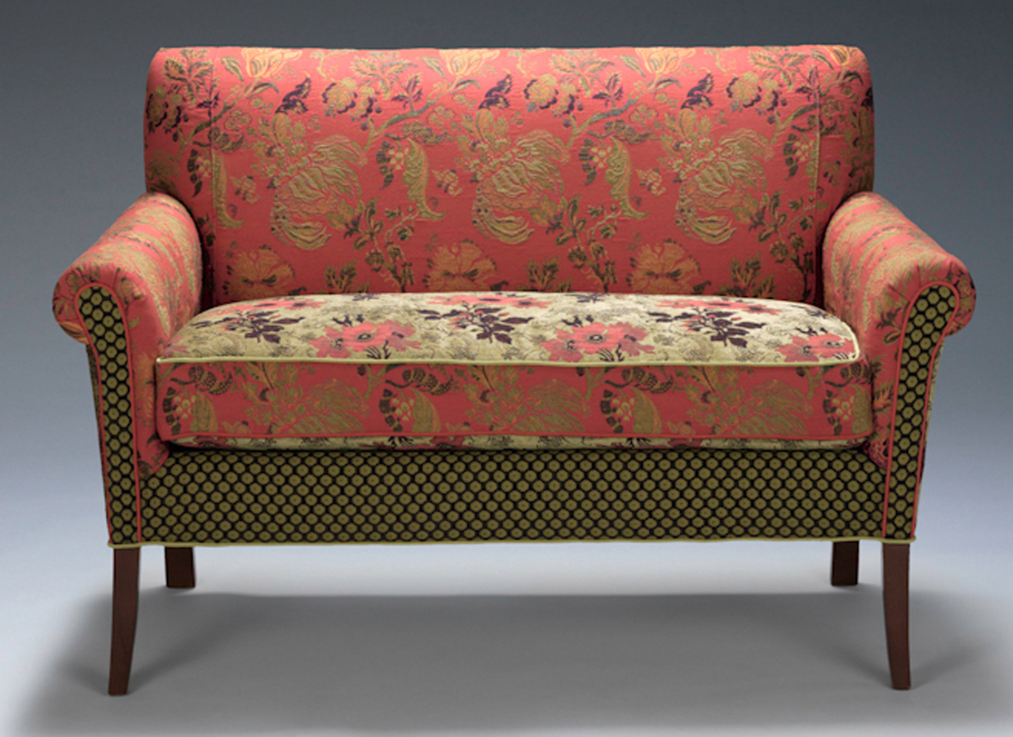 sofa settee salon settee in melody rustic by mary lynn ou0027shea (upholstered sofa) HMVKIAK