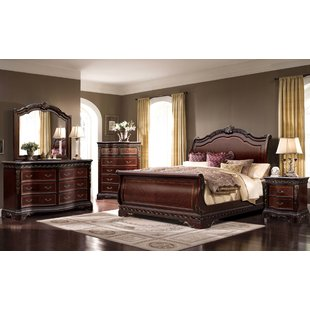 solid wood bedroom furniture queen sleigh 4 piece bedroom set PALQXVI