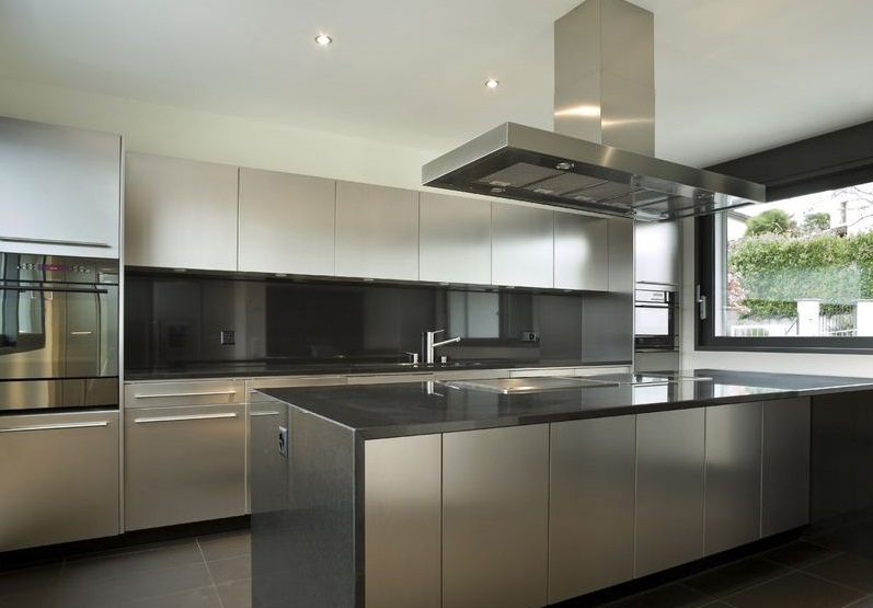 stainless steel kitchen cabinets contemporary stainless steel kitchen. stainless steel base cabinets HJWYNCO