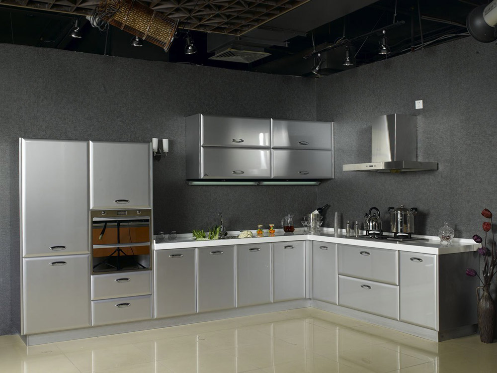 stainless steel kitchen cabinets decorating your home decoration with good vintage stainless steel kitchen WFEVOJF
