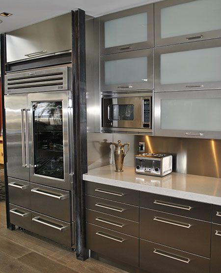 stainless steel kitchen cabinets from stainless steel cabinet doors for YRGMFHB