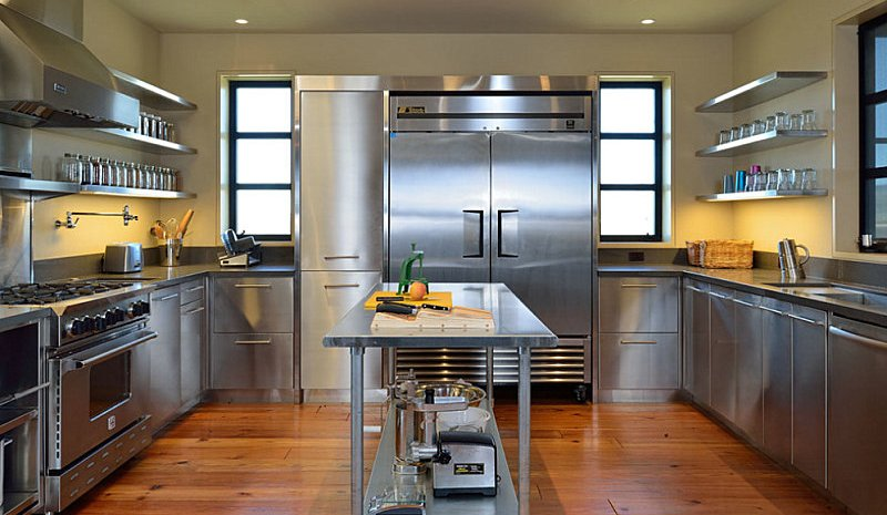 stainless steel kitchen cabinets stainless steel contemporary island. commercial style kitchen cabinets JXOCKIJ