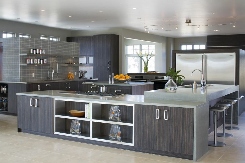 stainless steel kitchen cabinets wood-and-stainless-steel-kitchen-cabinets KTGYULX
