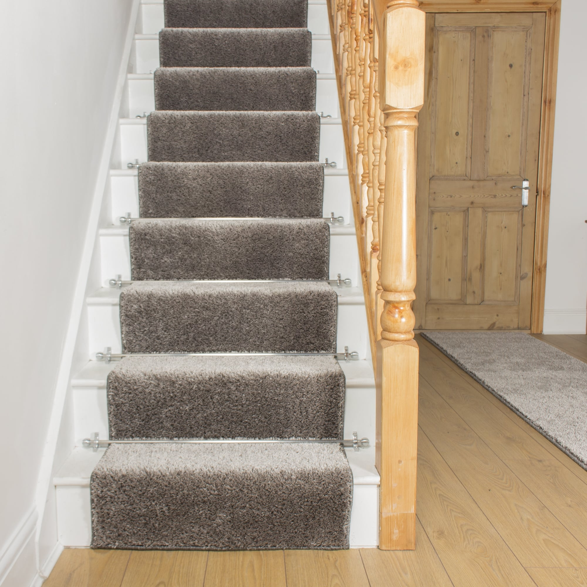 stair runner shaggy silver grey YTABDQC