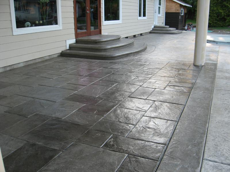 stamped concrete large grey ashlar slate YCZKNOQ