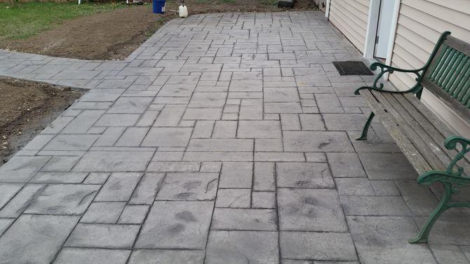 stamped concrete vs pavers FRMCSUX