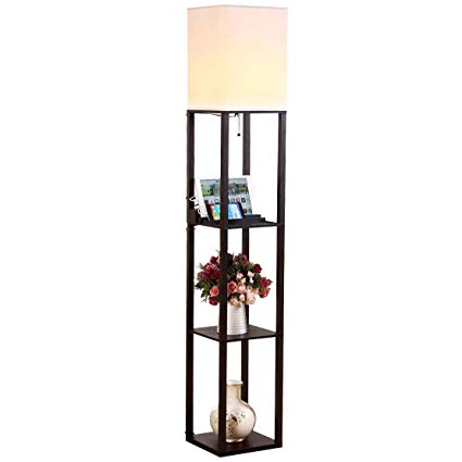 standing lamp with shelves brightech maxwell led usb shelf floor lamp modern asian style standing LUTVAHO