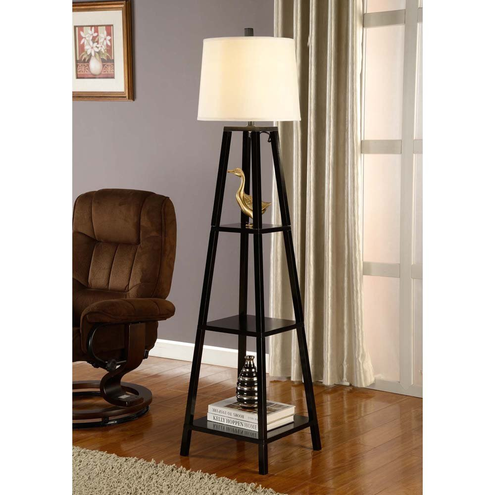 standing lamp with shelves full size of shelves:bronze floor lamp overarching floor lamp brown wood TEAPZOY