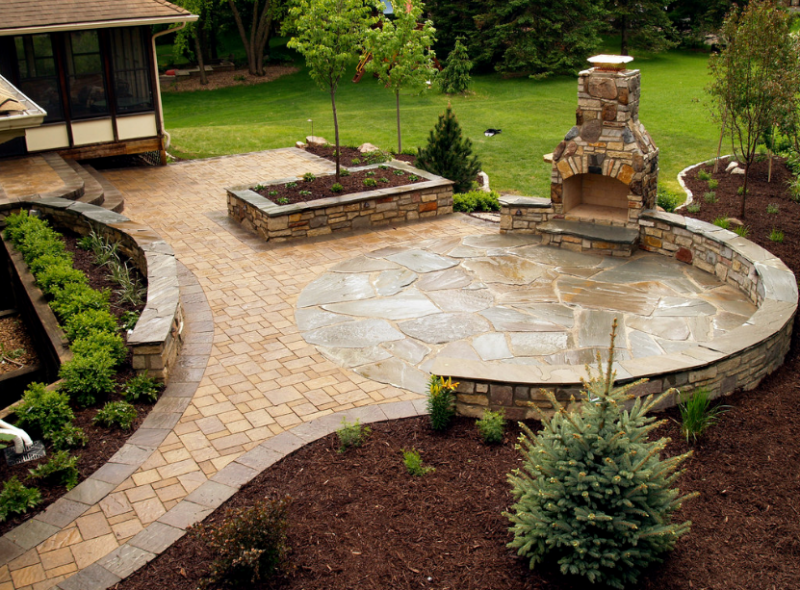 stone patio ideas landscaping-stone-patio-ideas HHMXLLR